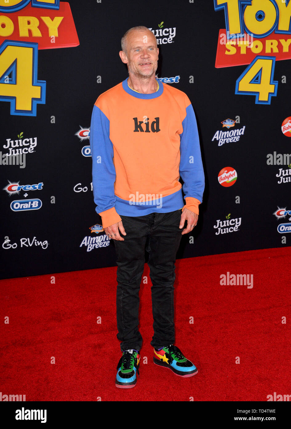 """Los Angeles, California, USA. 11th June, 2019. Flea at the world premiere of """"Toy Story 4"""" at the El Capitan Theatre. Picture: Paul Smith/Featureflash Credit: Paul Smith/Alamy Live News Stock Photo"""