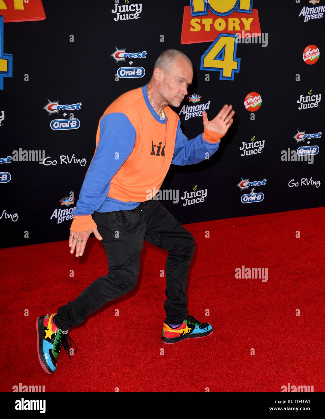 Los Angeles, California, USA. 11th June, 2019. Flea at the world premiere of 'Toy Story 4' at the El Capitan Theatre. Picture: Paul Smith/Featureflash Credit: Paul Smith/Alamy Live News - Stock Image
