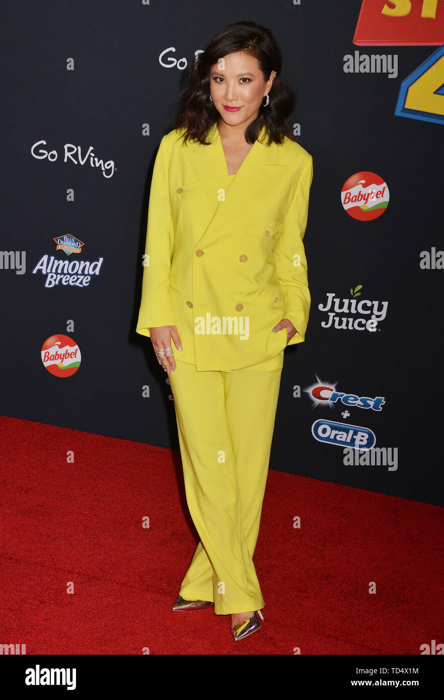 Ally Maki 006 arrives at the premiere of Disney and Pixar's 'Toy Story 4' on June 11, 2019 in Los Angeles, California. - Stock Image