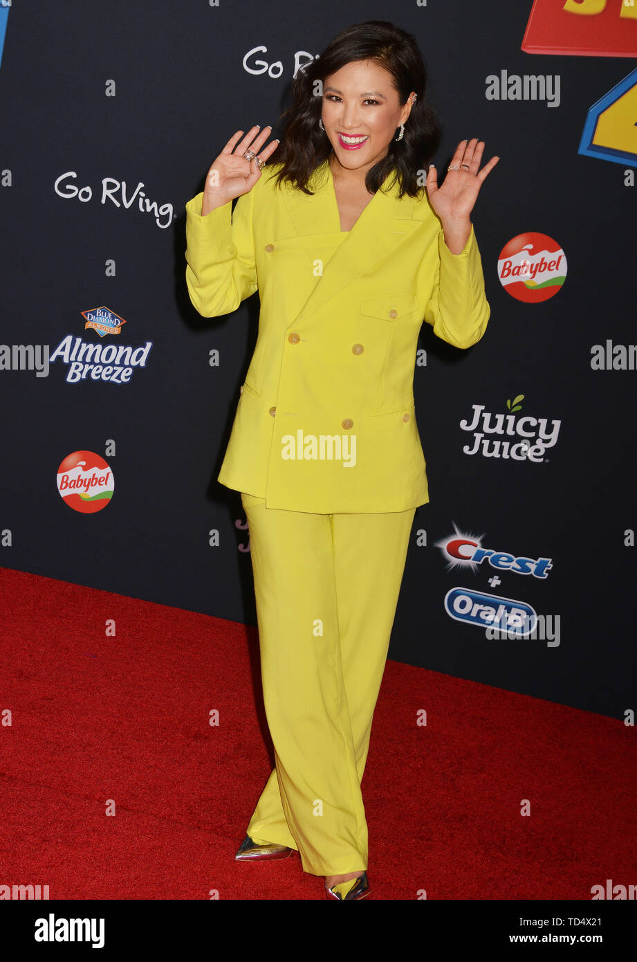 Ally Maki 008 arrives at the premiere of Disney and Pixar's 'Toy Story 4' on June 11, 2019 in Los Angeles, California. - Stock Image