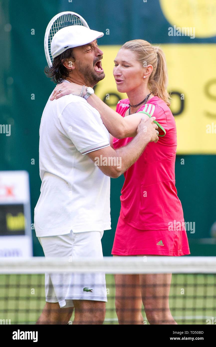 Steffi Graf Turns 50 On June 14 2019 Henri Leconte Left Former Tennis Pro Is Rumored
