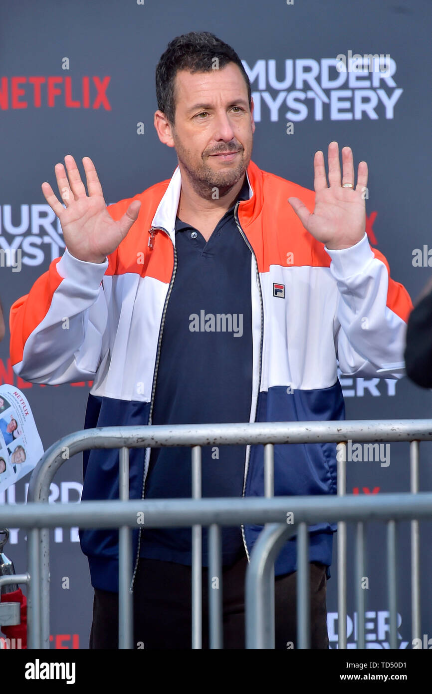 Los Angeles, USA  10th June, 2019  Adam Sandler at the premiere of