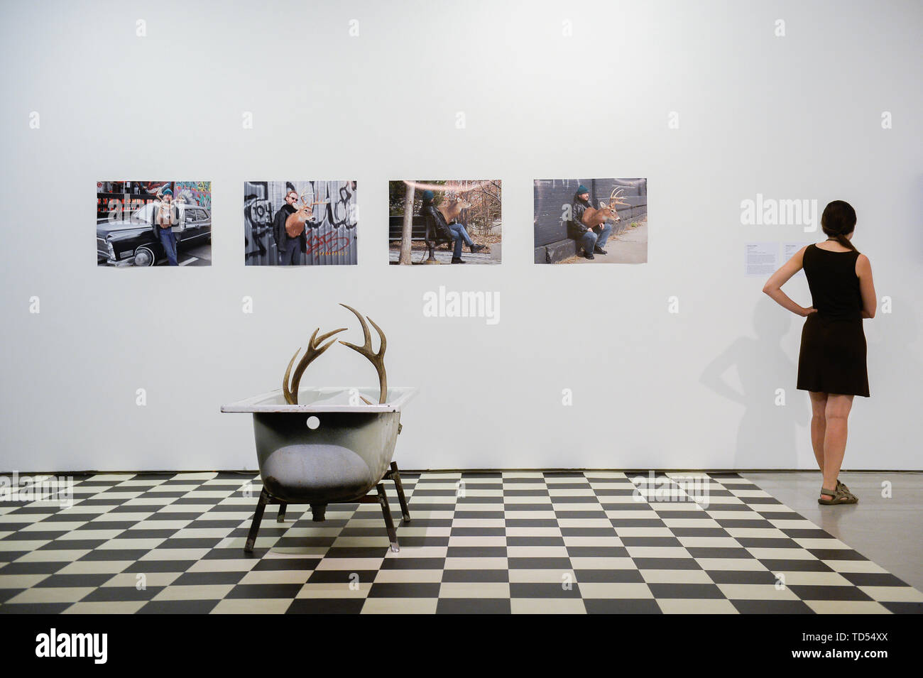 Krakow, Poland  11th June, 2019  A woman looks at a