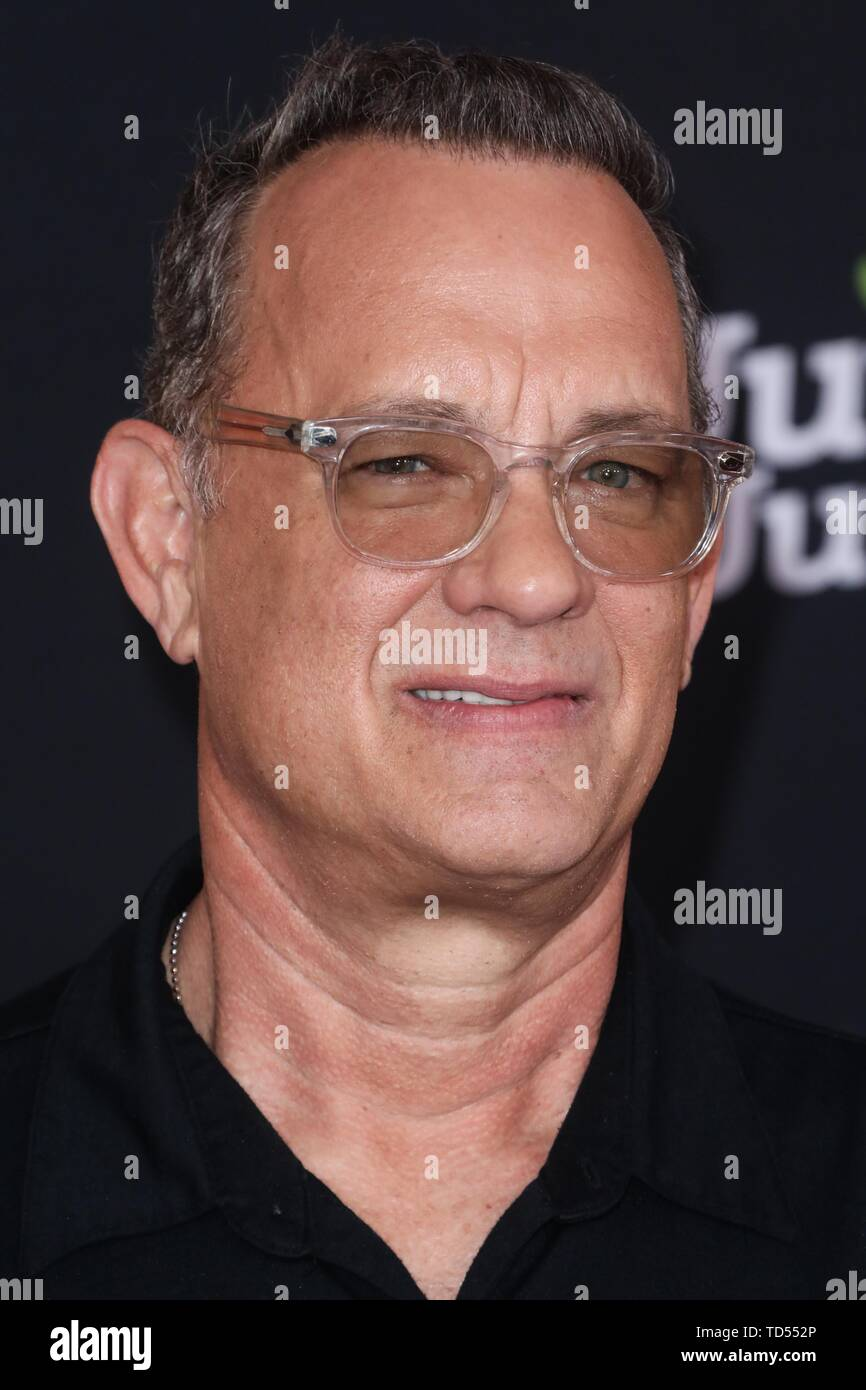 Hollywood, USA. 11th June, 2019. HOLLYWOOD, LOS ANGELES, CALIFORNIA, USA - JUNE 11: Actor Tom Hanks arrives at the Los Angeles Premiere Of Disney And Pixar's 'Toy Story 4' held at the El Capitan Theatre on June 11, 2019 in Hollywood, Los Angeles, California, USA. (Photo by David Acosta/Image Press Agency) Credit: Image Press Agency/Alamy Live News - Stock Image
