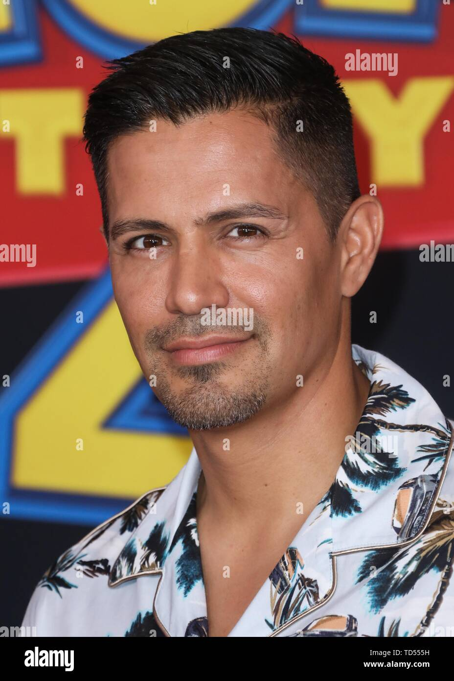Hollywood, USA. 11th June, 2019. HOLLYWOOD, LOS ANGELES, CALIFORNIA, USA - JUNE 11: Actor Jay Hernandez arrives at the Los Angeles Premiere Of Disney And Pixar's 'Toy Story 4' held at the El Capitan Theatre on June 11, 2019 in Hollywood, Los Angeles, California, USA. (Photo by David Acosta/Image Press Agency) Credit: Image Press Agency/Alamy Live News - Stock Image