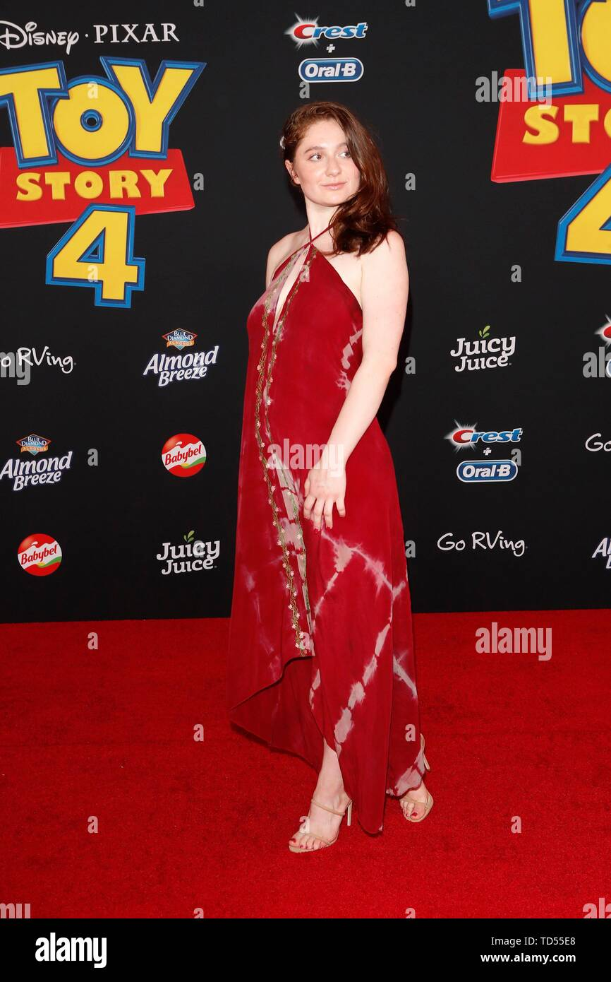 Emma Kenney at arrivals for TOY STORY 4 Premiere, El Capitan Theatre, Los Angeles, CA June 11, 2019. Photo By: Priscilla Grant/Everett Collection - Stock Image