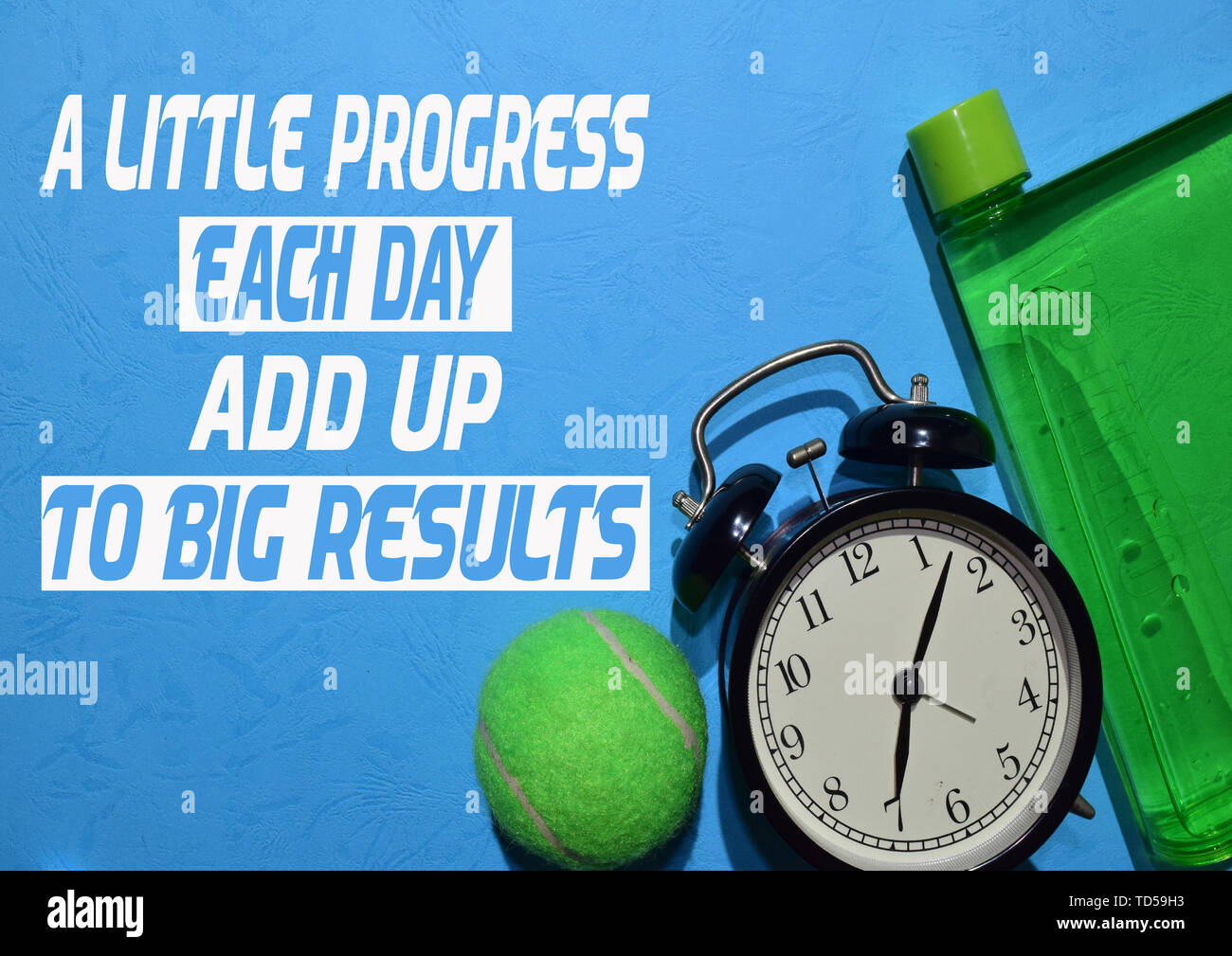 A Little Progress Each Day Add Up To Big Results Fitness Motivation Quotes Sport Concept Stock Photo Alamy