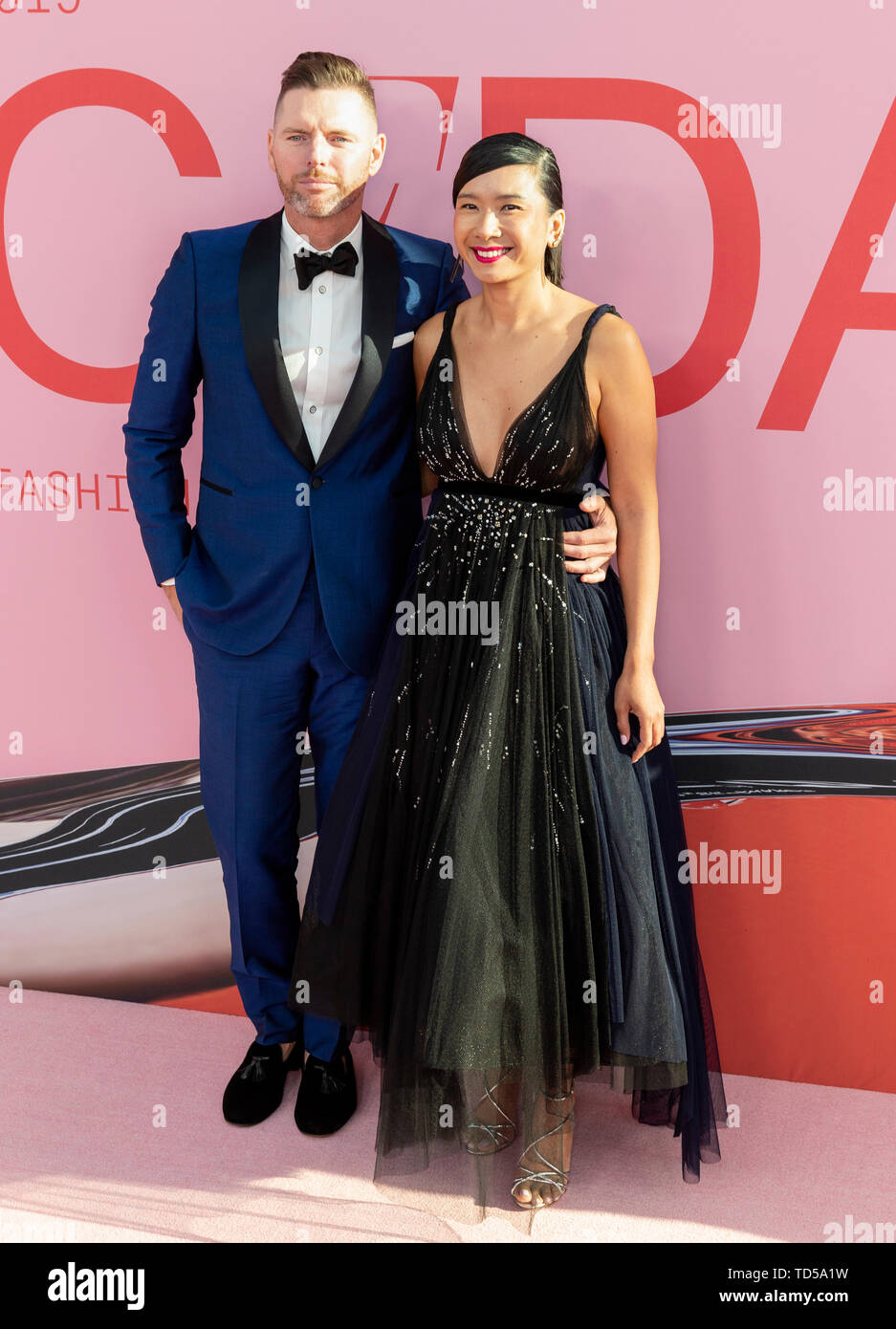 New York, NY - June 03, 2019: Guests attend 2019 CFDA Fashion Awards at Brooklyn Museum - Stock Image