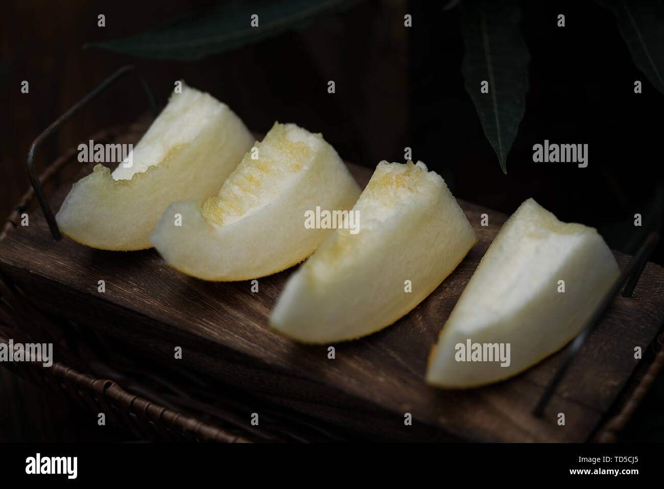 Melon Cantaloupe Afternoon Tea Stock Photo Alamy The green tea one helps get rid of acne and the cantaloupe one. alamy