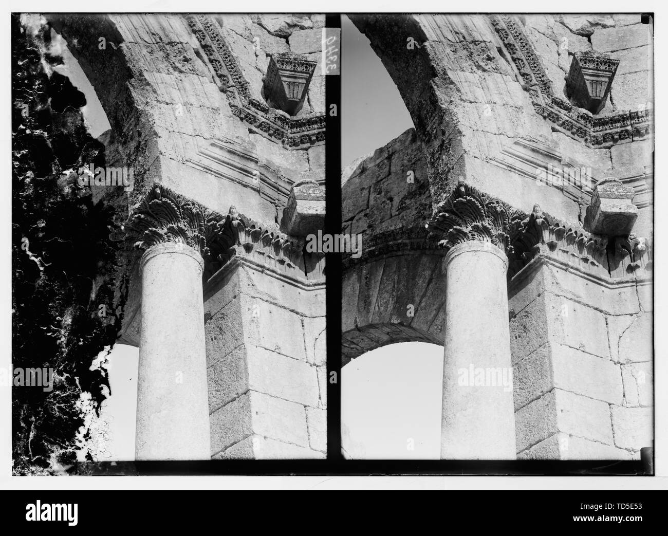 """""""English: Title: Acanthus-leaf Capital, Church of Kalat Siman Abstract/medium: G. Eric and Edith Matson Photograph Collection  Physical description: 1 Stock Photo"""