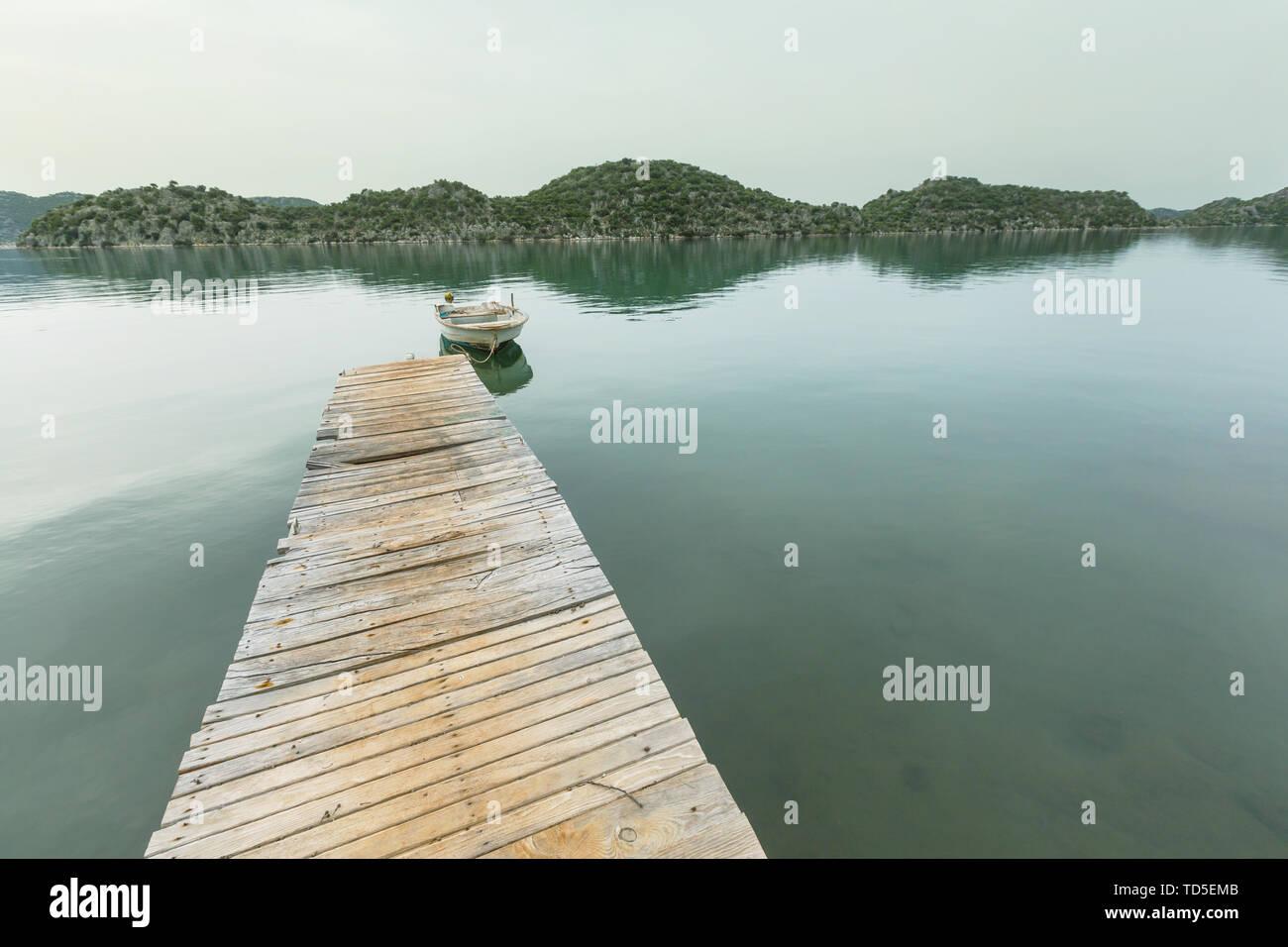 sea pier in Turkey coast - Stock Image