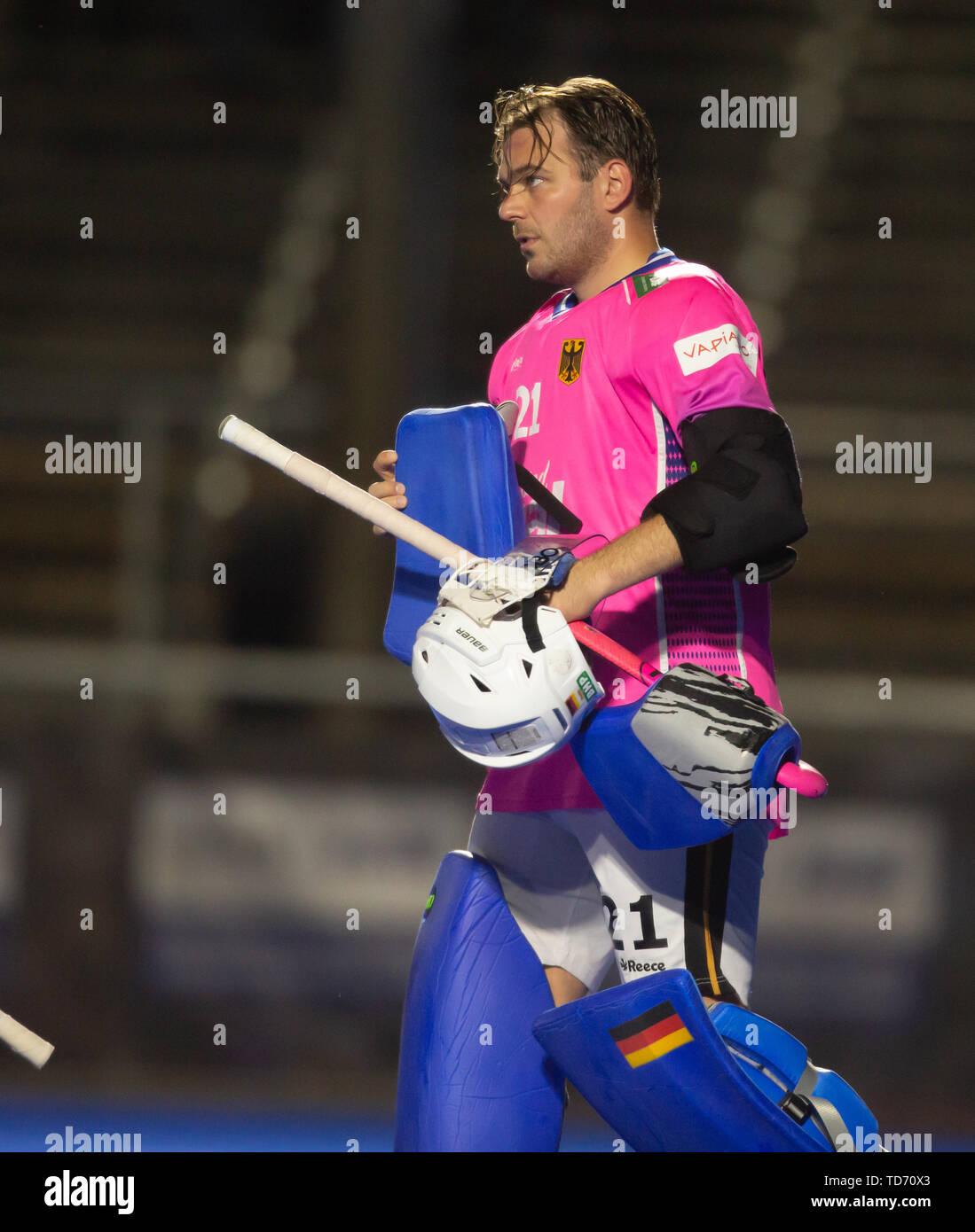Krefeld, Germany, 12.06.2019, Hockey, FIH Pro League, men, Germany vs. Belgium: Tobias Walter (Germany) looks on. - Stock Image