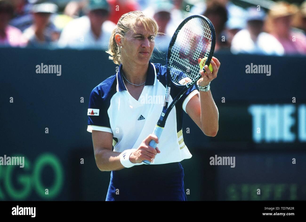 Paris, Frankreich. 10th Sep, 2015. Tennis: Paris French Open 05/1999 Steffi Stefanie Steffanie Graf Final Promotion Service | usage worldwide Credit: dpa/Alamy Live News - Stock Image