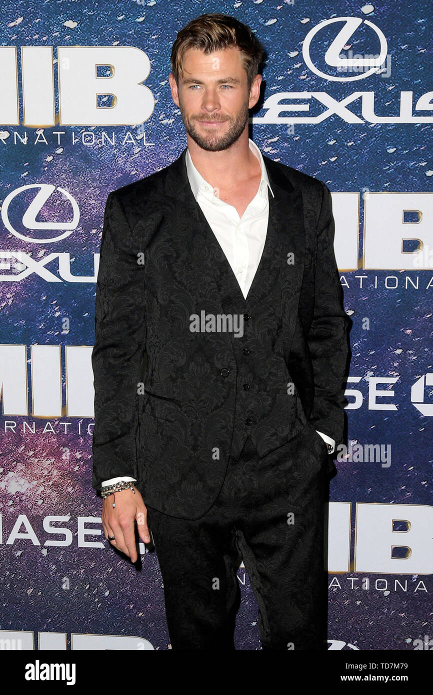 New York, USA. 11th June, 2019. Chris Hemsworth at the world premiere of the movie 'Men in Black: International' at AMC Loews Lincoln Square 13. New York, 11.06.2019 | usage worldwide Credit: dpa/Alamy Live News - Stock Image