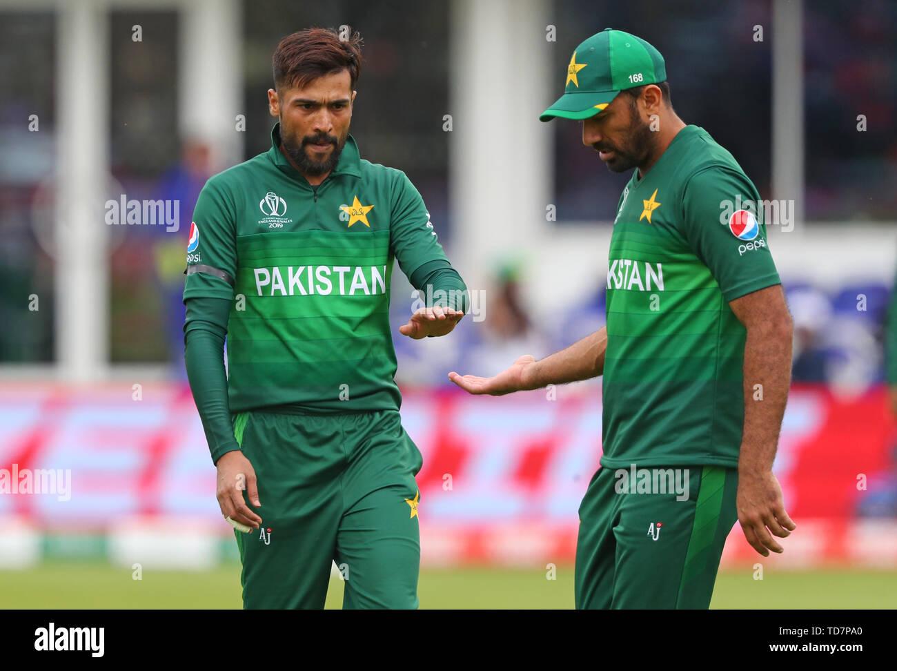 Taunton, UK  12th June, 2019  Mohammad Amir of Pakistan