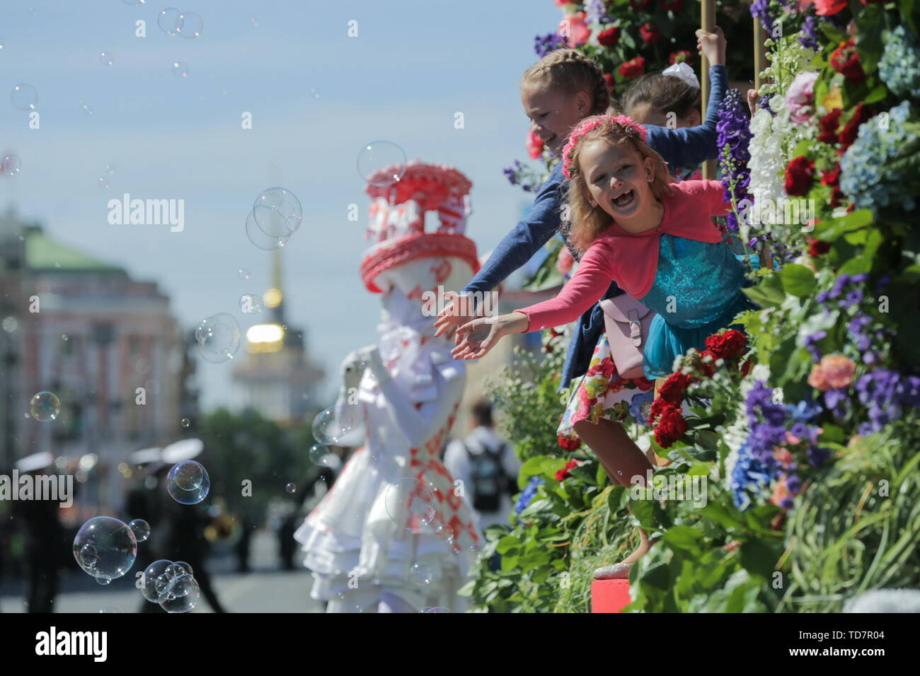 When Is Russian Christmas.St Petersburg Russia 12th June 2019 Children Take Part