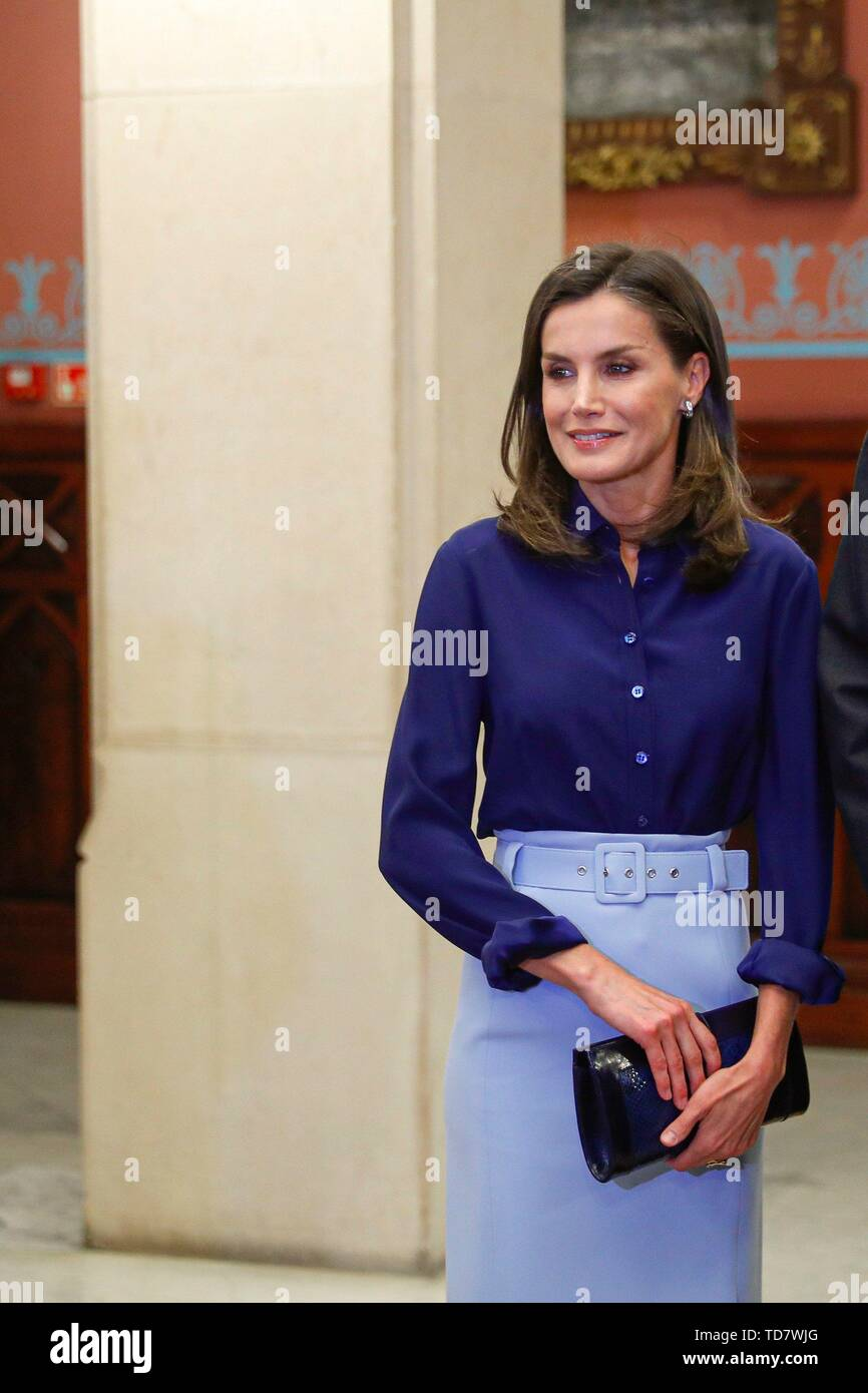 Madrid, Spain  13th June, 2019  Spain's Queen Letizia attends a