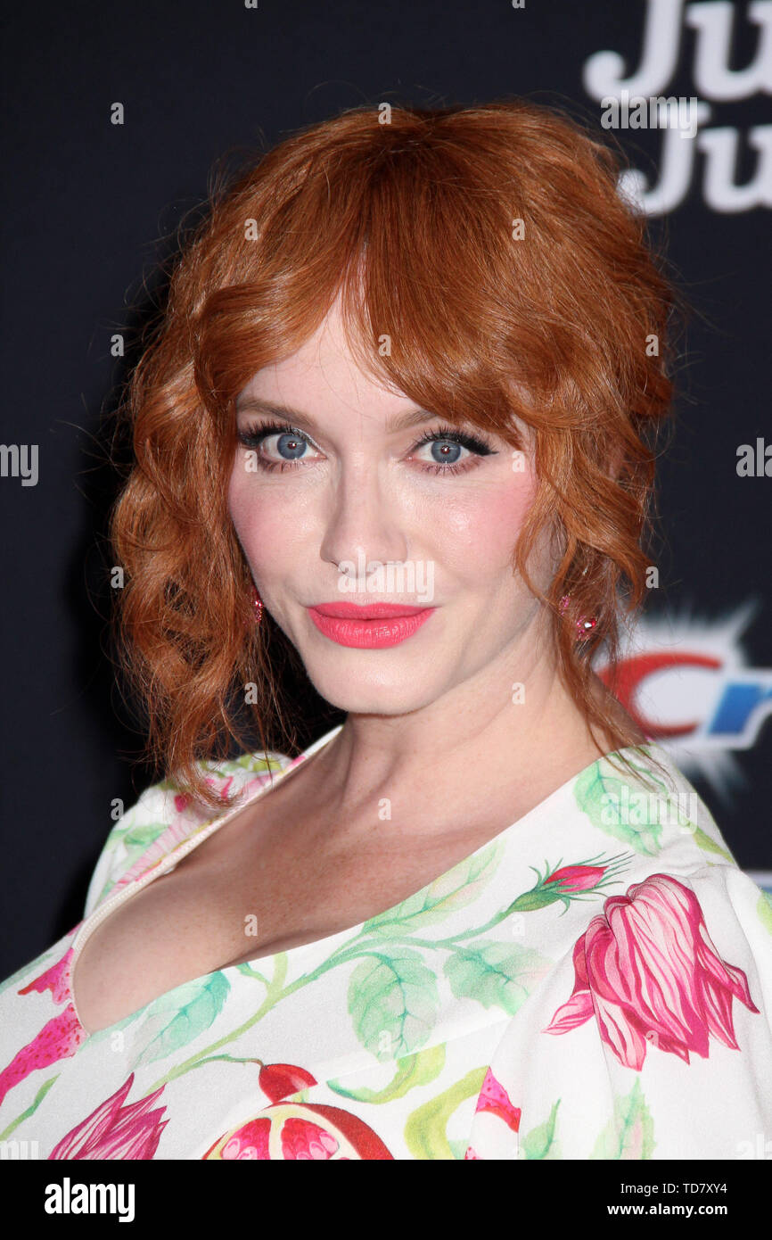 """Christina Hendricks  06/11/2019 """"Toy Story 4"""" Premiere held at the El Capitan Theatre in Hollywood, CA   Photo: Cronos/Hollywood News - Stock Image"""