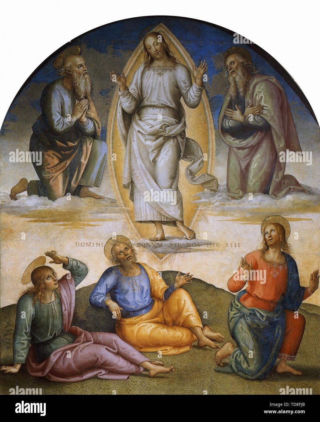 Pietro Perugino - Transfiguration 1500 - Stock Image