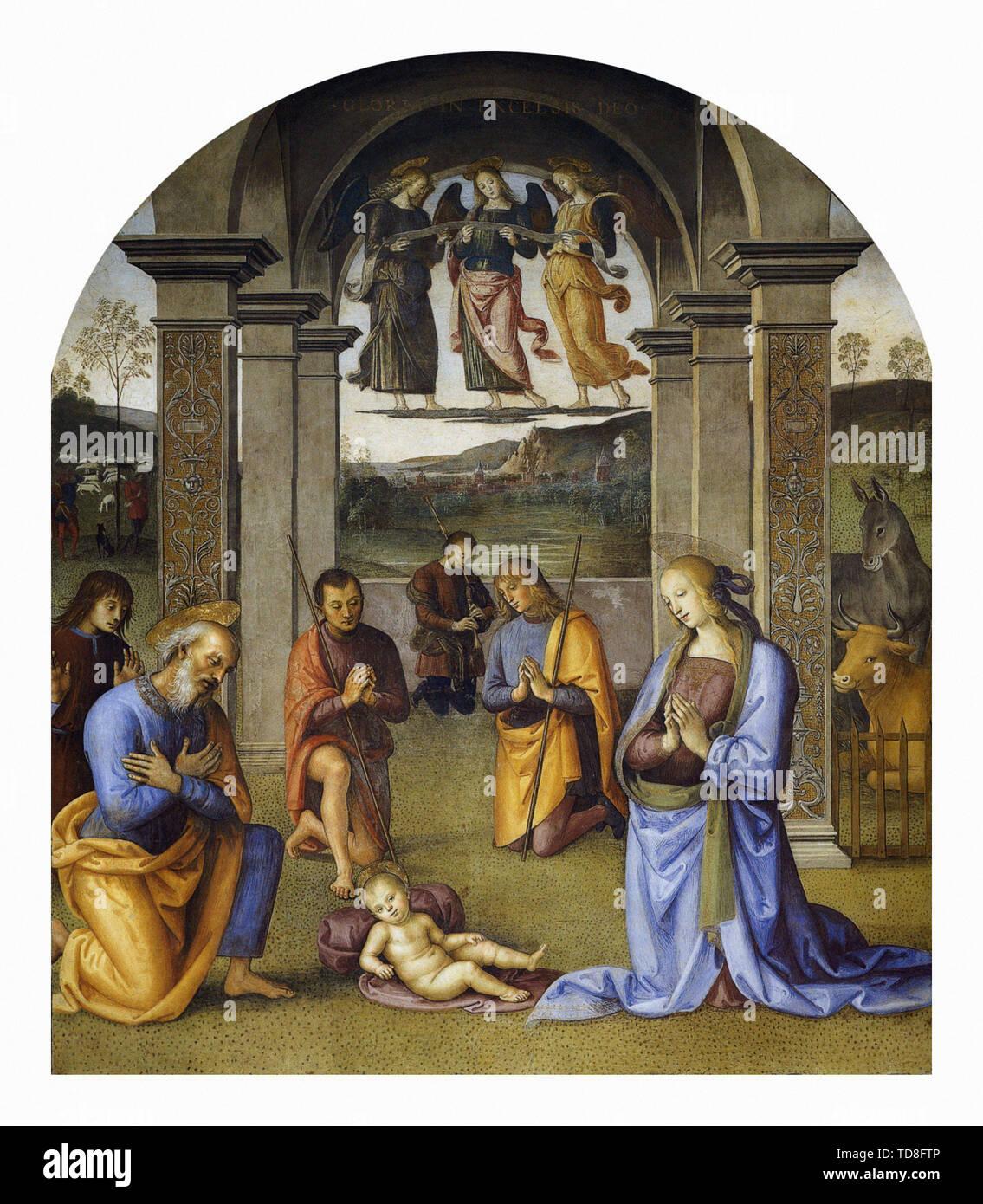 Pietro Perugino - Nativity 1500 - Stock Image