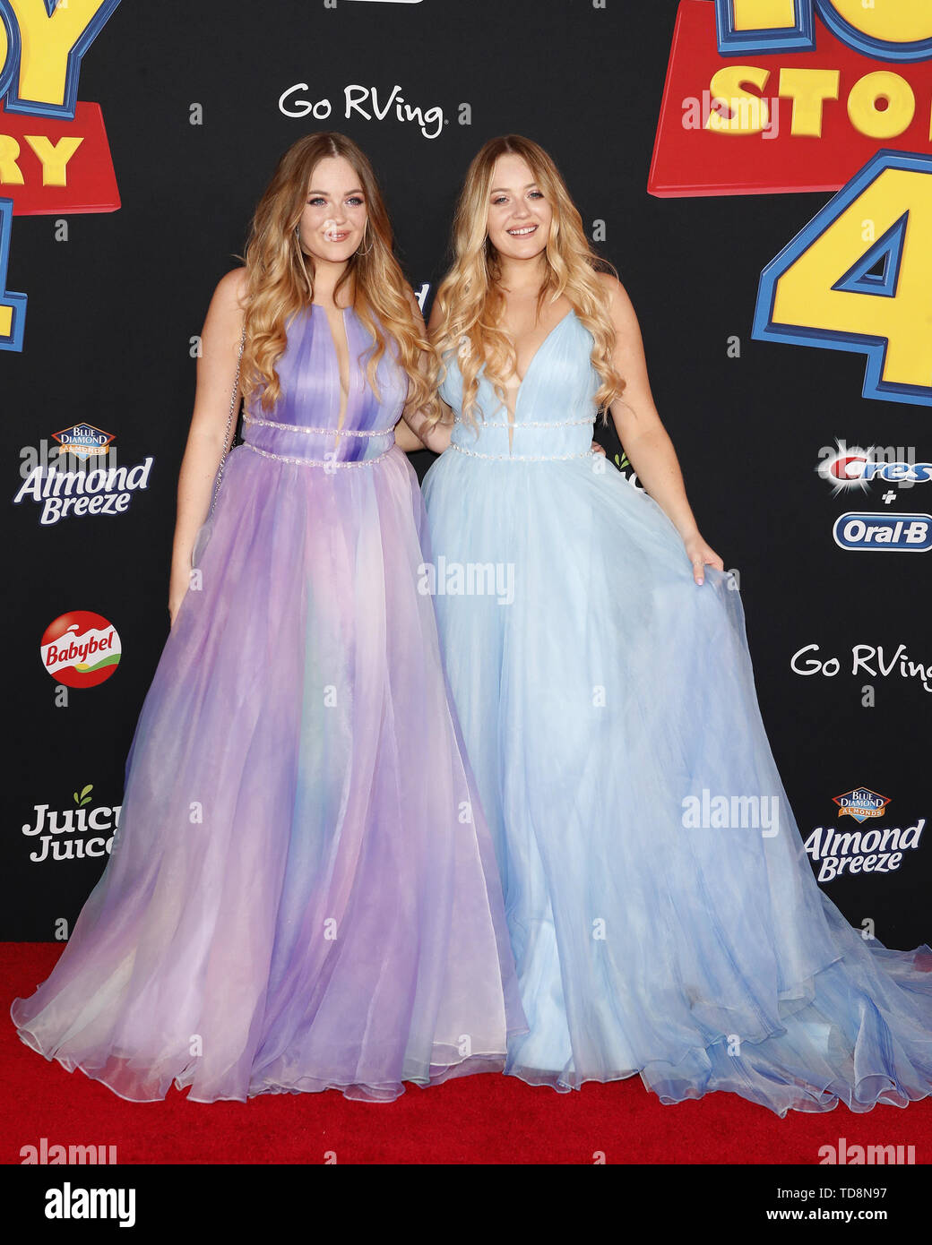 June 11, 2019 - Los Angeles, CA, USA - LOS ANGELES - JUN 11:  Lucy Connell, Lydia Connell at the ''Toy Story 4'' Premiere at the El Capitan Theater on June 11, 2019 in Los Angeles, CA (Credit Image: © Kay Blake/ZUMA Wire) - Stock Image