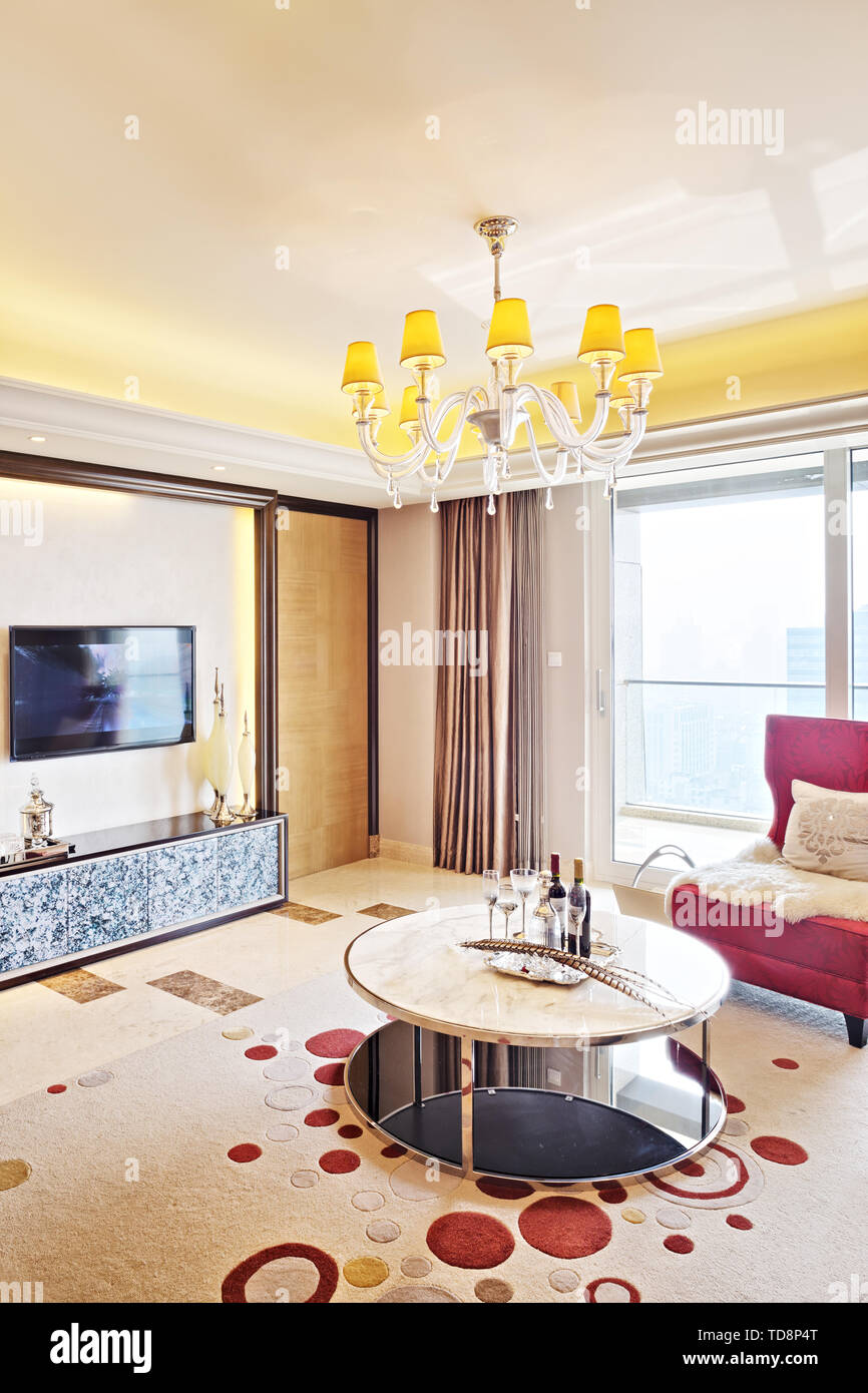 Modern living room interior - Stock Image