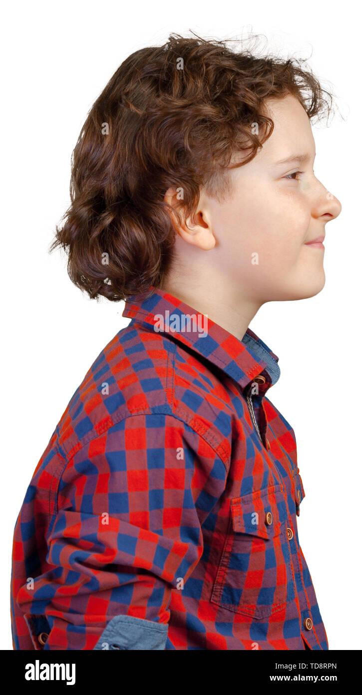 Portrait of little boy - Stock Image