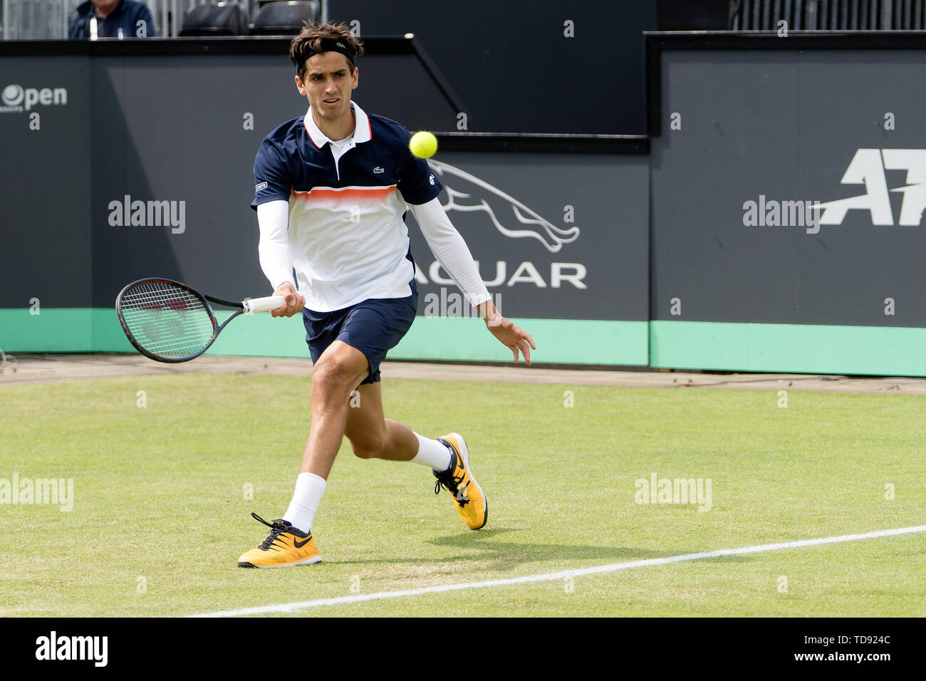 13 june 2019 Rosmalen, The Netherlands Tennis Libema open   Pierre-Hugues Herbert (FRA) - Stock Image