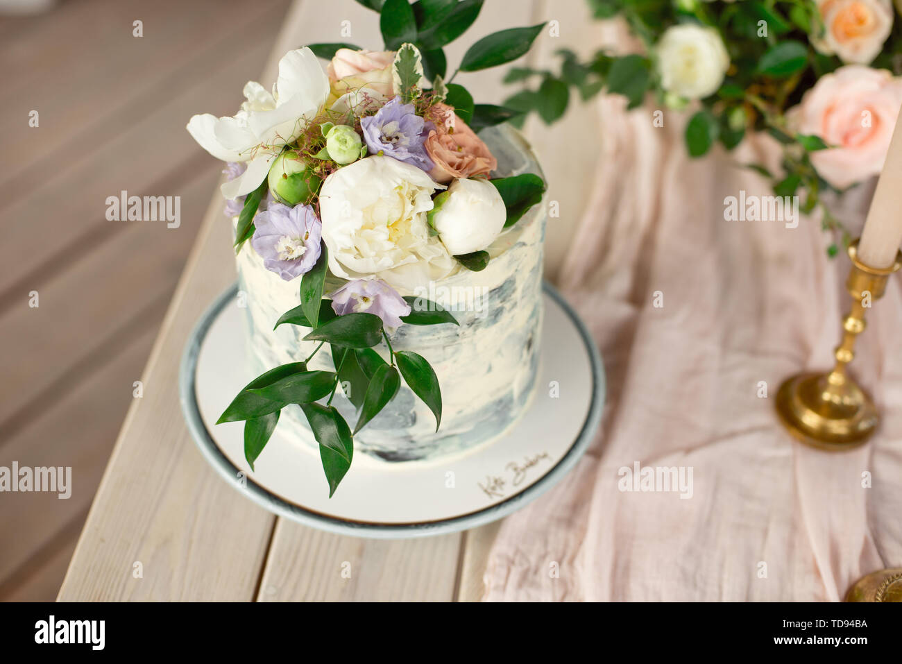Wedding Decoration Table In The Garden Floral Arrangement In The