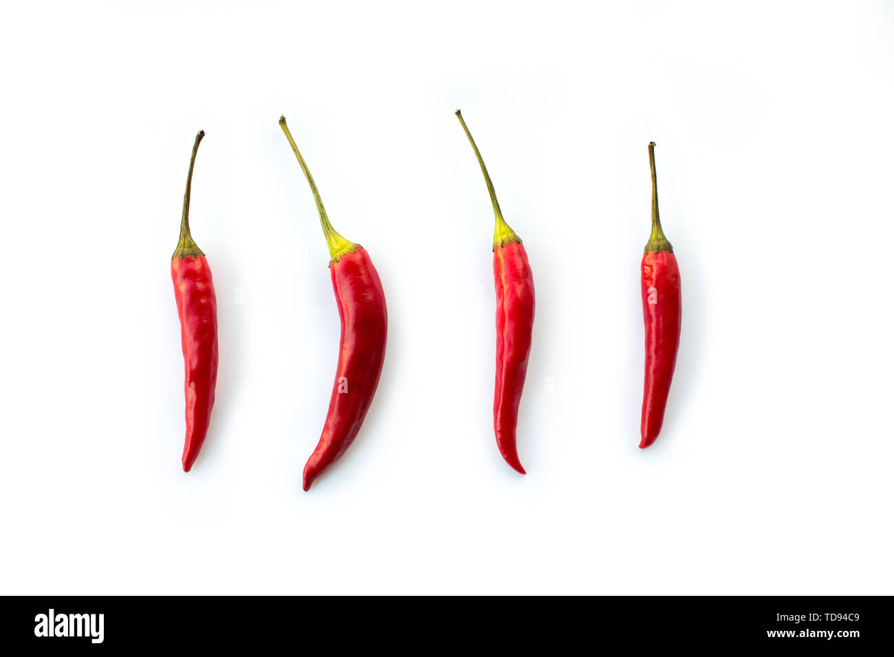 four red chilies - Stock Image