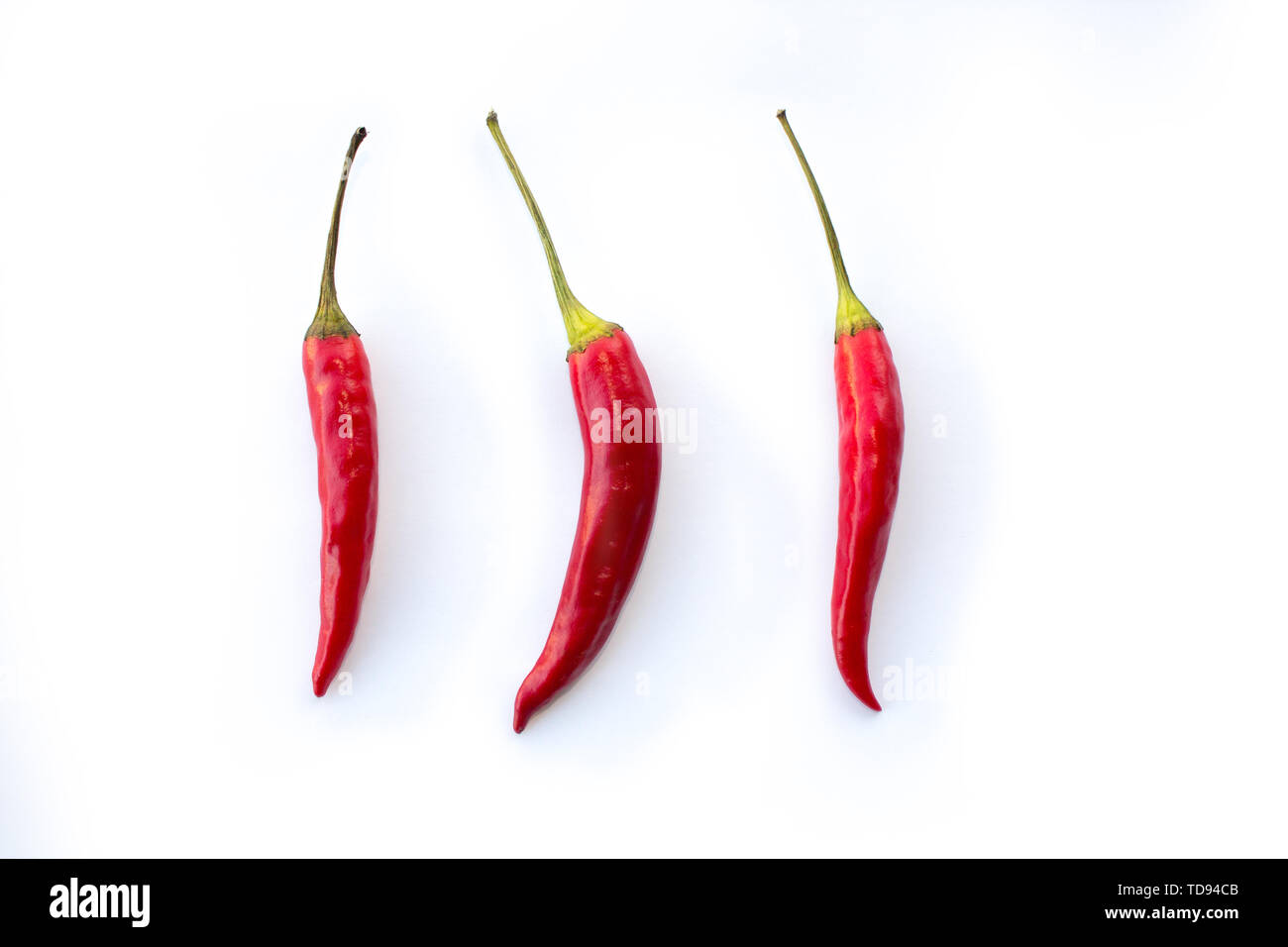 three red chilies - Stock Image