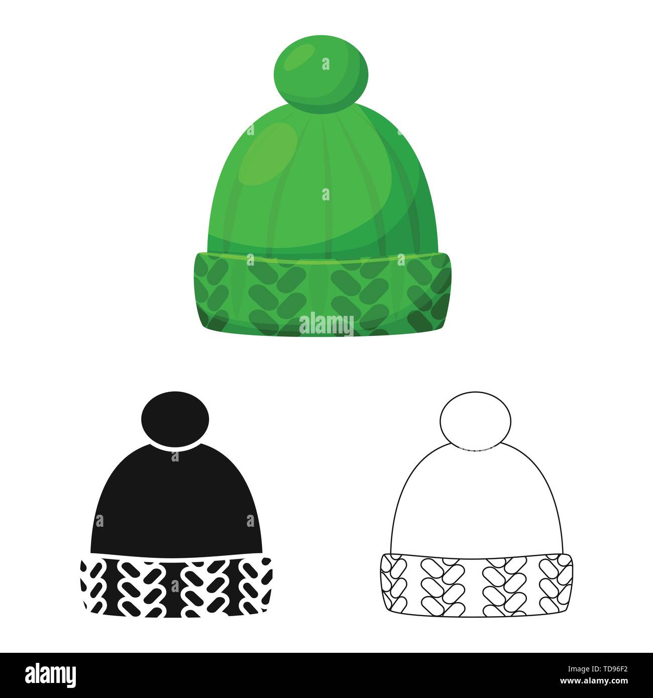 Vector design of clothing and cap icon. Collection of clothing and beret stock vector illustration. - Stock Vector