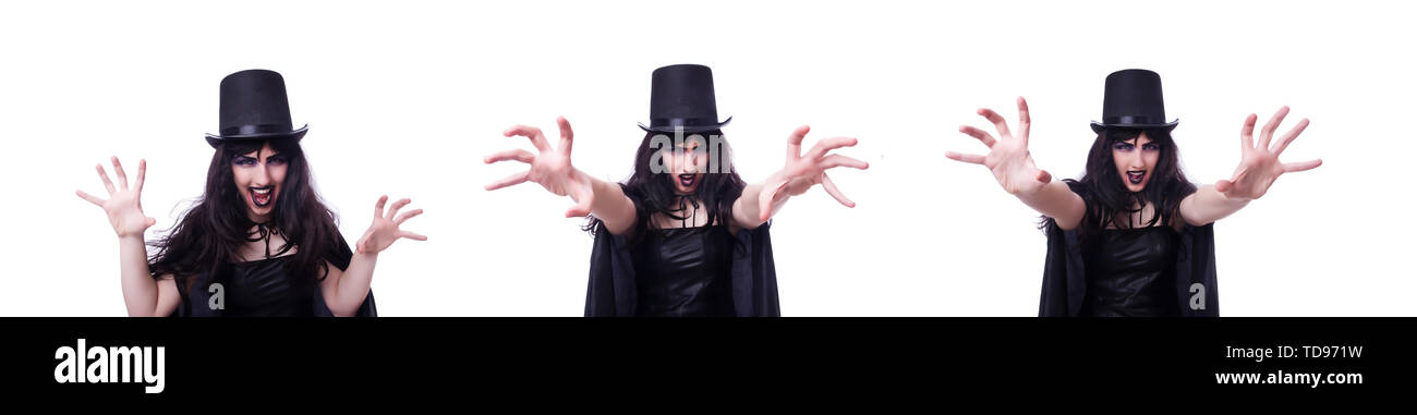 Satan halloween concept isolated on white - Stock Image