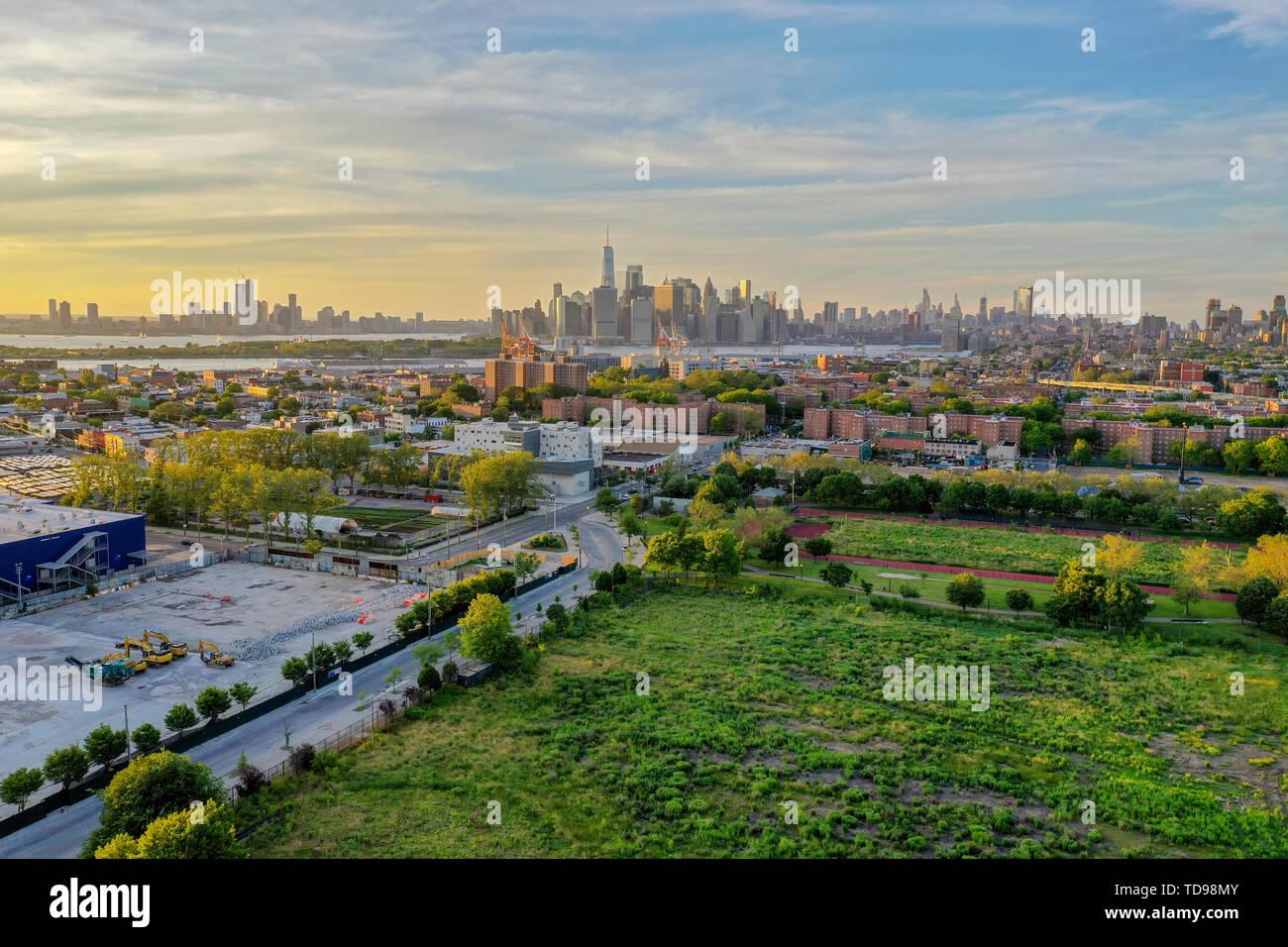The Red Hook Grain Terminal in the Red Hook neighborhood of Brooklyn, New York. - Stock Image
