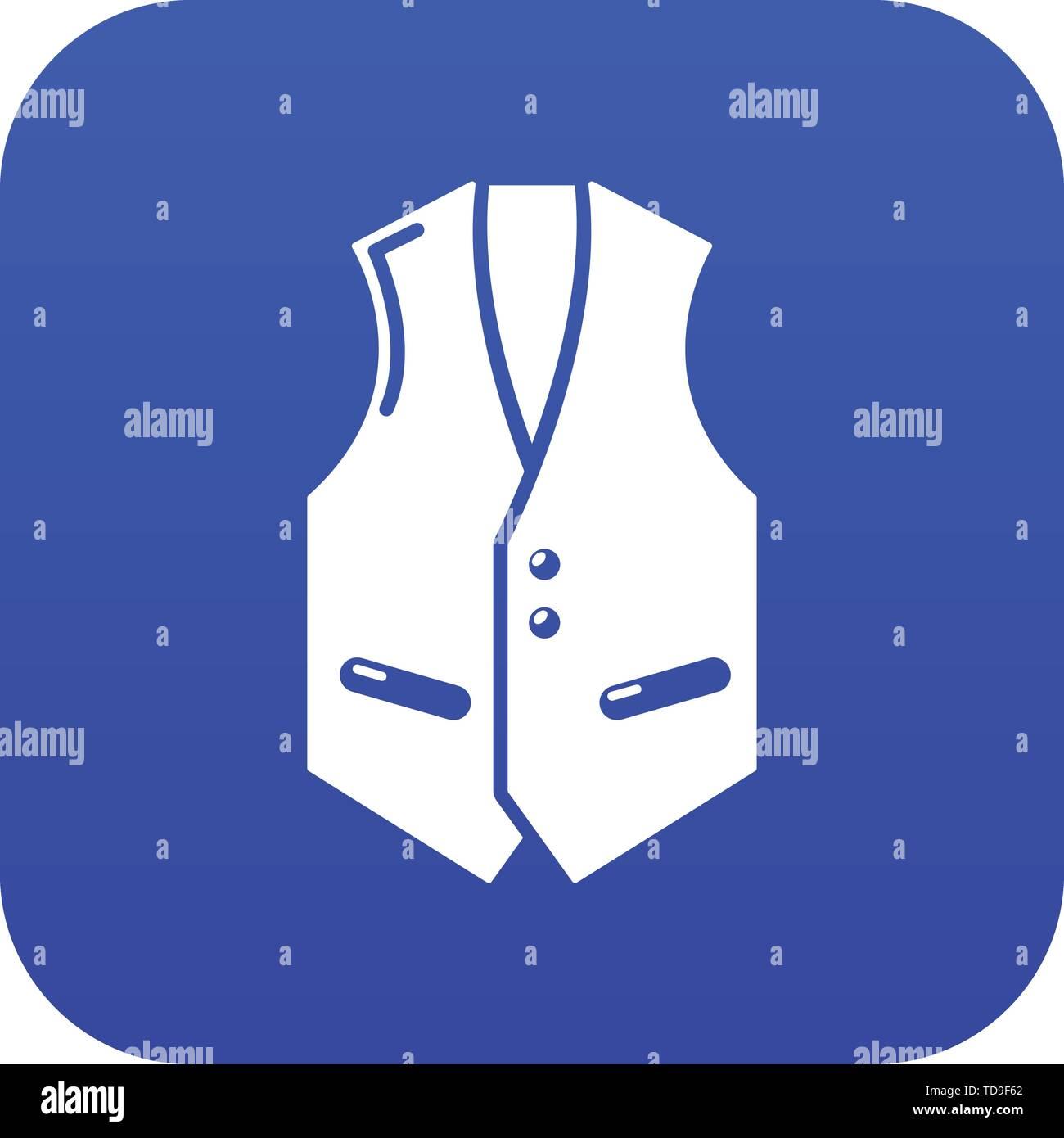 Waistcoat icon blue vector - Stock Vector