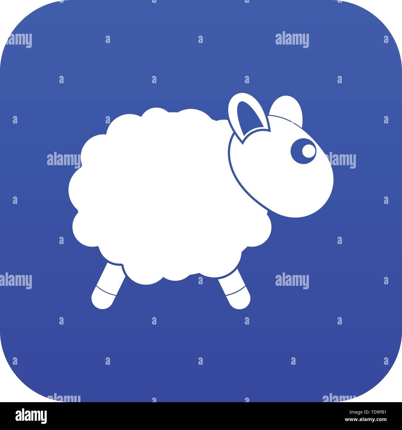 Sheep icon digital blue - Stock Vector