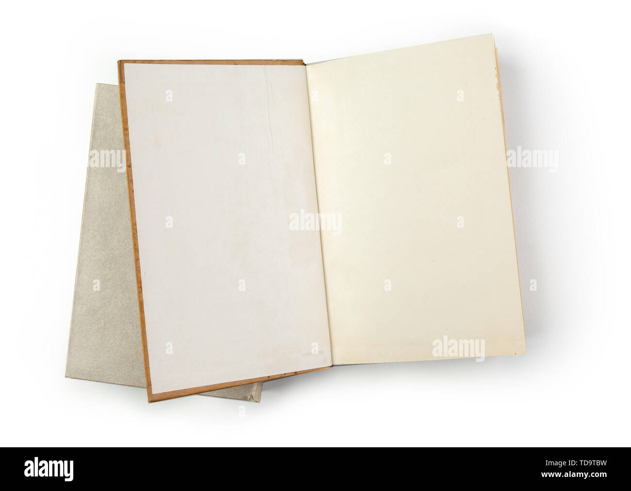 Notebook isolated on white background - Stock Image