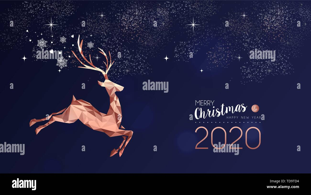 Merry Christmas Images 2020.Merry Christmas Happy New Year 2020 Elegant Label Design