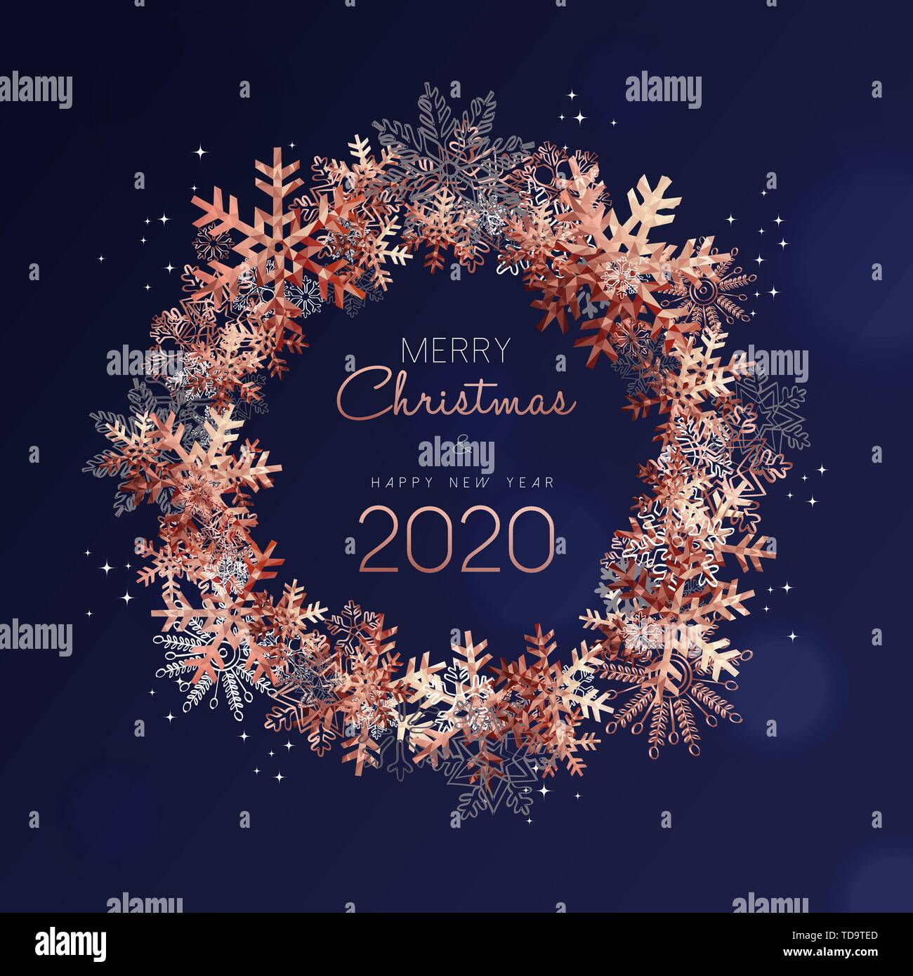 merry christmas and happy new year 2020 greeting card. Black Bedroom Furniture Sets. Home Design Ideas