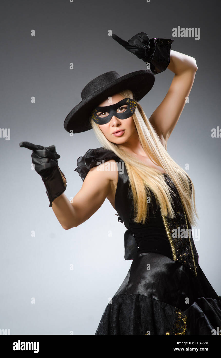 Woman in pirate costume - Halloween concept - Stock Image