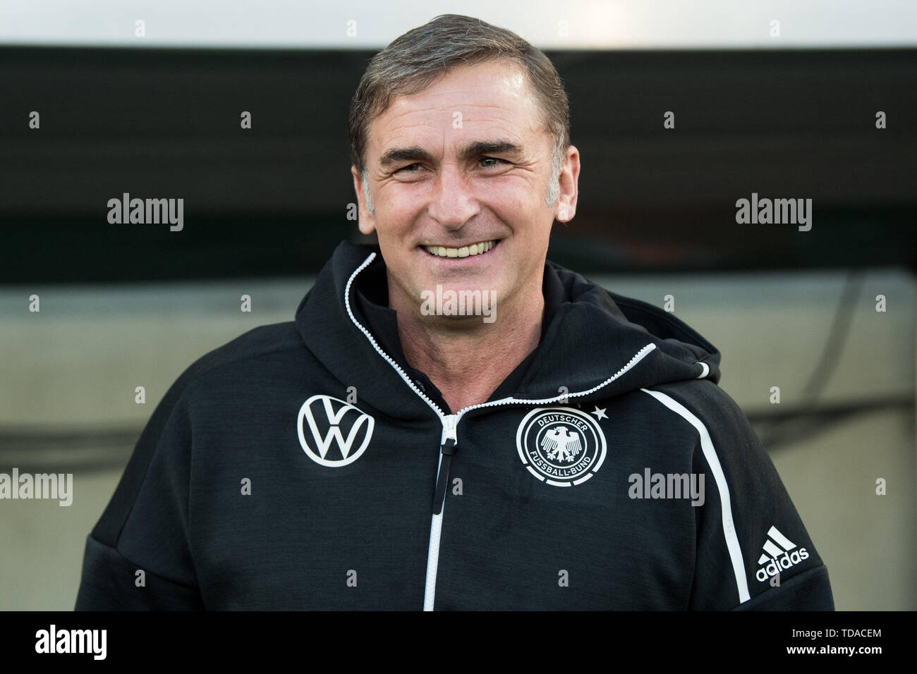 Preview UEFA Under21 European Championship in Italy/SanMarino from 16-30.06 2019. Archive picture: coach Stefan KUNTZ (GER), laughsd, smiling, smile, smiling, laughs, bust, football Laender match, U21, friendly match, Germany (GER) - France (FRA ) 2: 2, on 21.03.2019 in Essen/Germany. å | usage worldwide - Stock Image