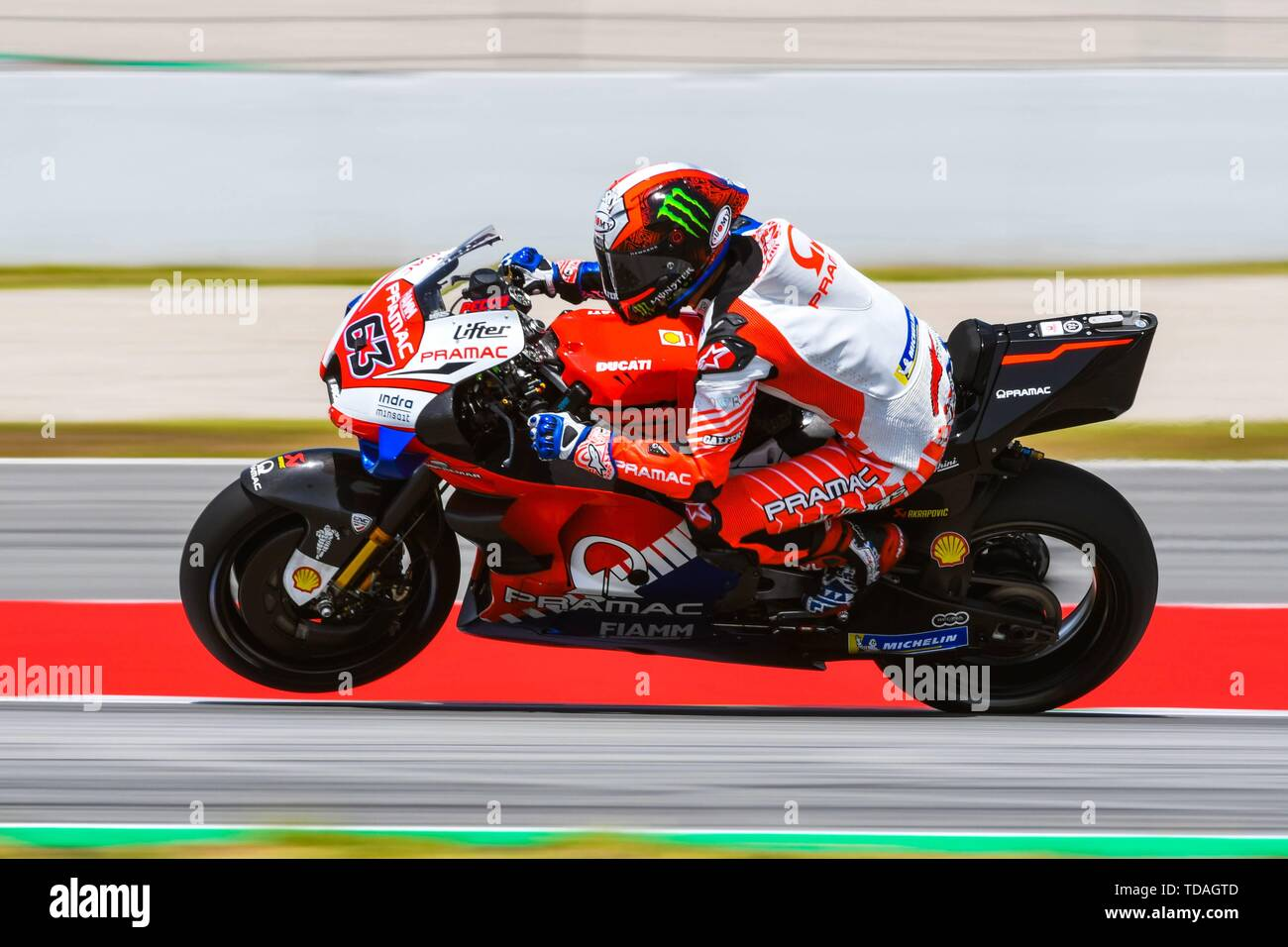 FRANCESCO BAGNAIA (63) of Italy and Pramac Racing during the MOTO GP Free  Practice 2 of
