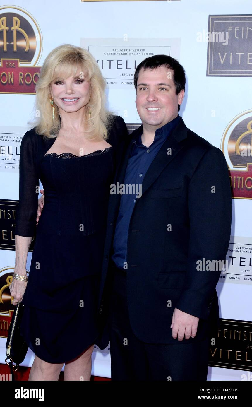 Los Angeles, CA, USA. 13th June, 2019. Loni Anderson, Quinton Anderson Reynolds at arrivals for Feinstein's at Vitello's VIP Grand Opening, Los Angeles, CA June 13, 2019. Credit: Priscilla Grant/Everett Collection/Alamy Live News - Stock Image