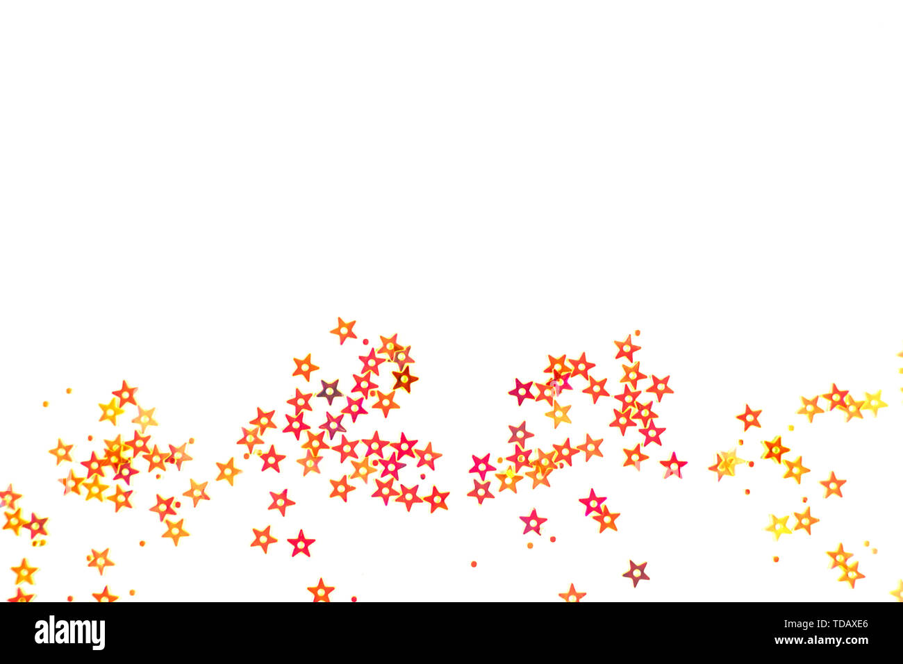 Bunch of colored stars on white background. Stock Photo