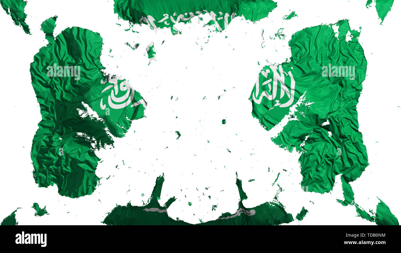 Scattered Saudi Arabia flag - Stock Image