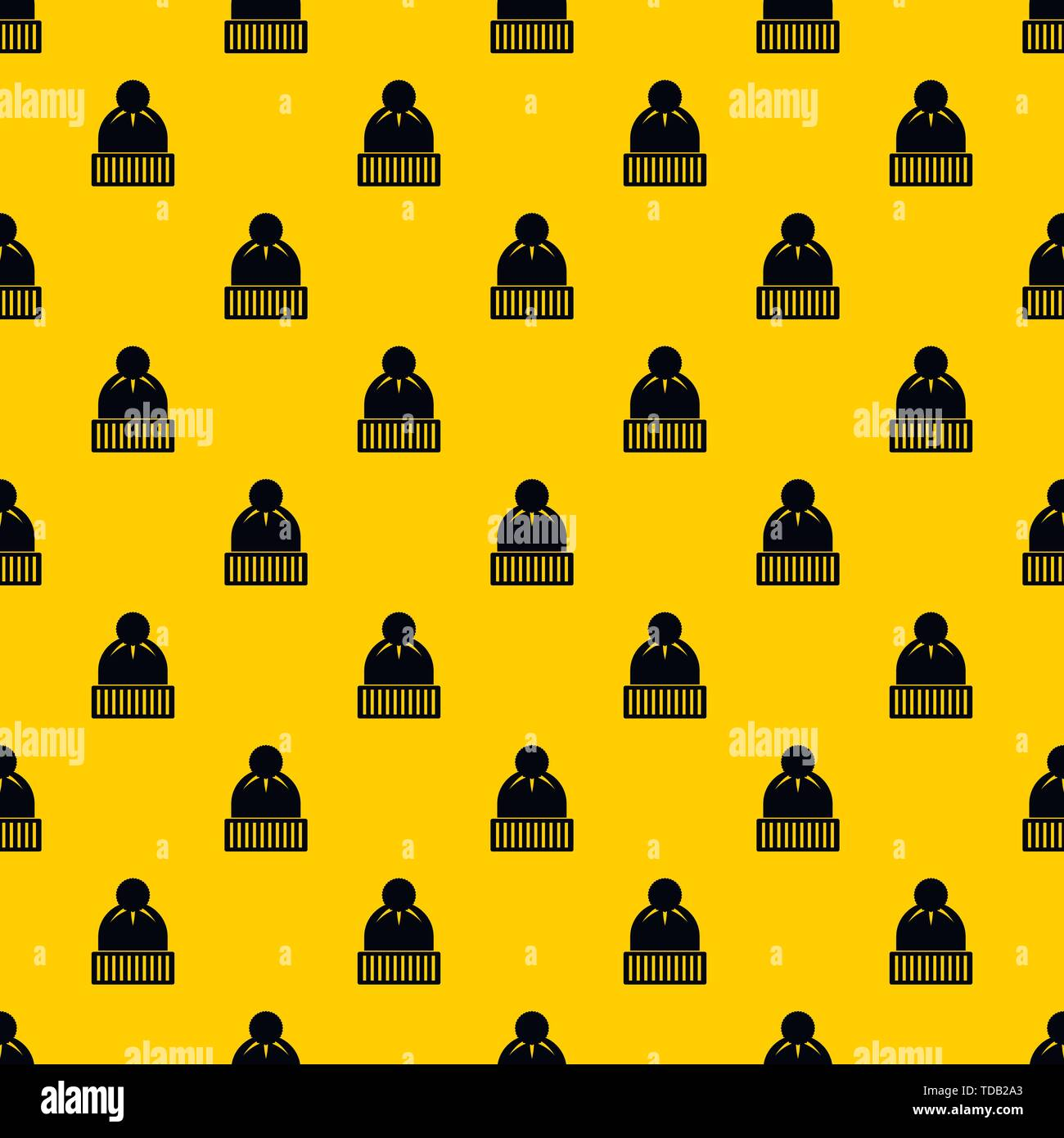 Knitted hat pattern vector - Stock Vector
