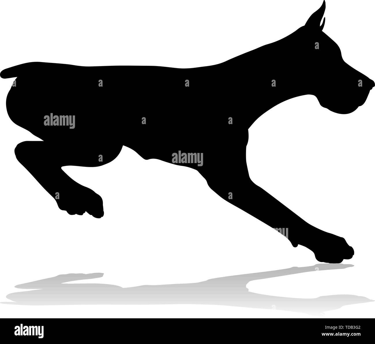 Dog Silhouette Pet Animal - Stock Image