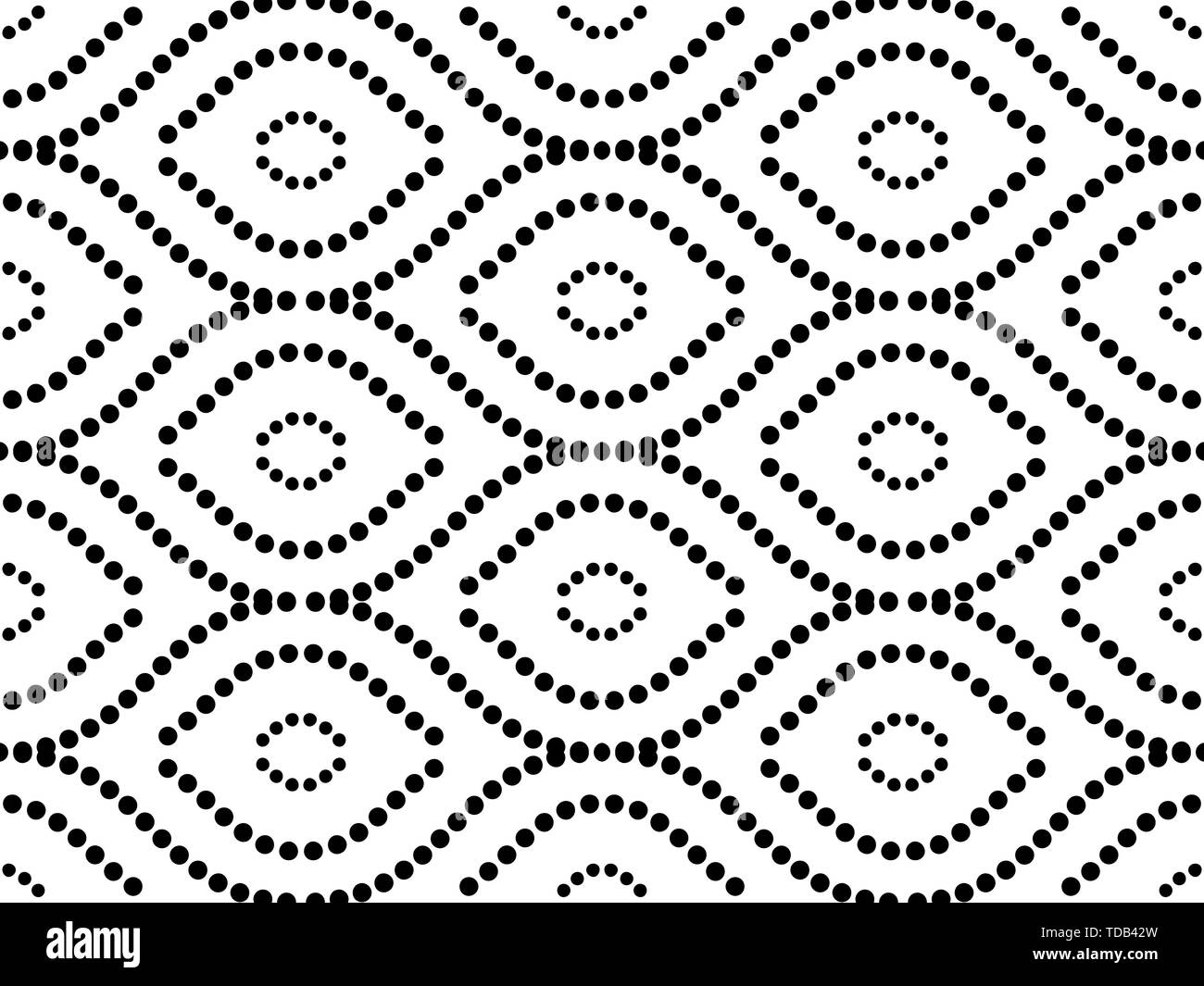Geometric Seamless Vector Pattern - Stock Image
