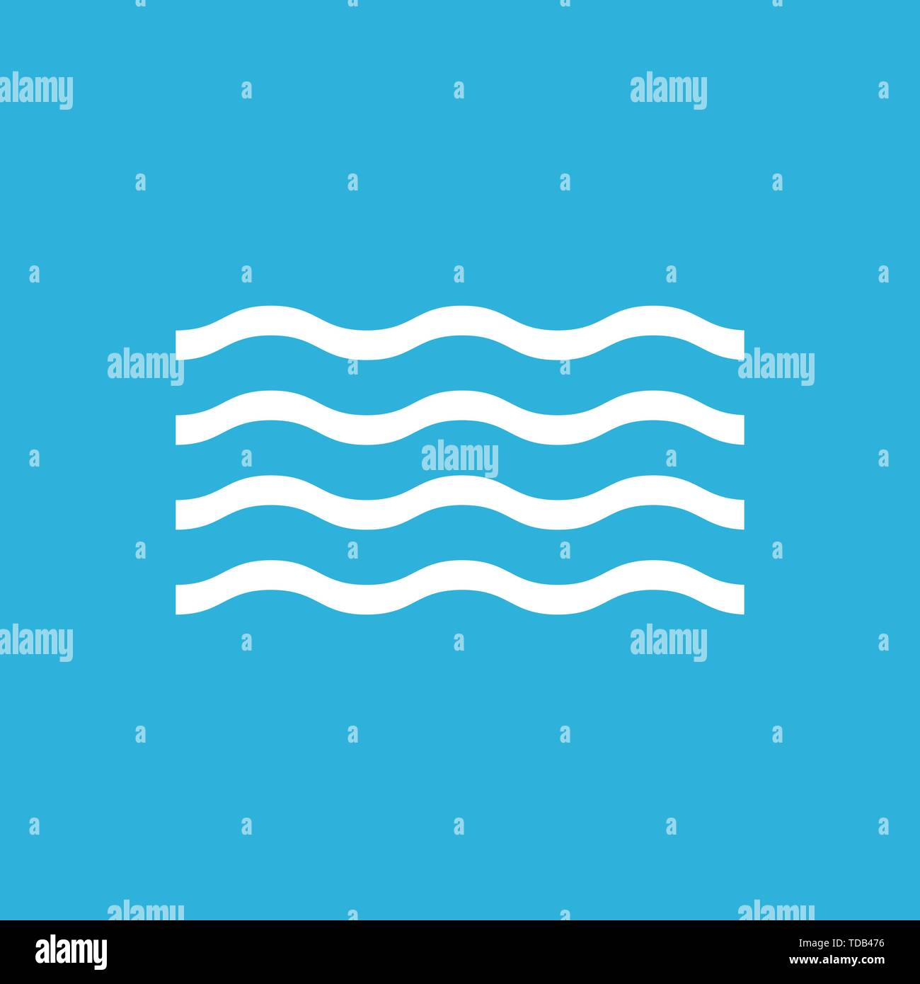 Wave pattern background. nature flat style. Vector - Stock Image