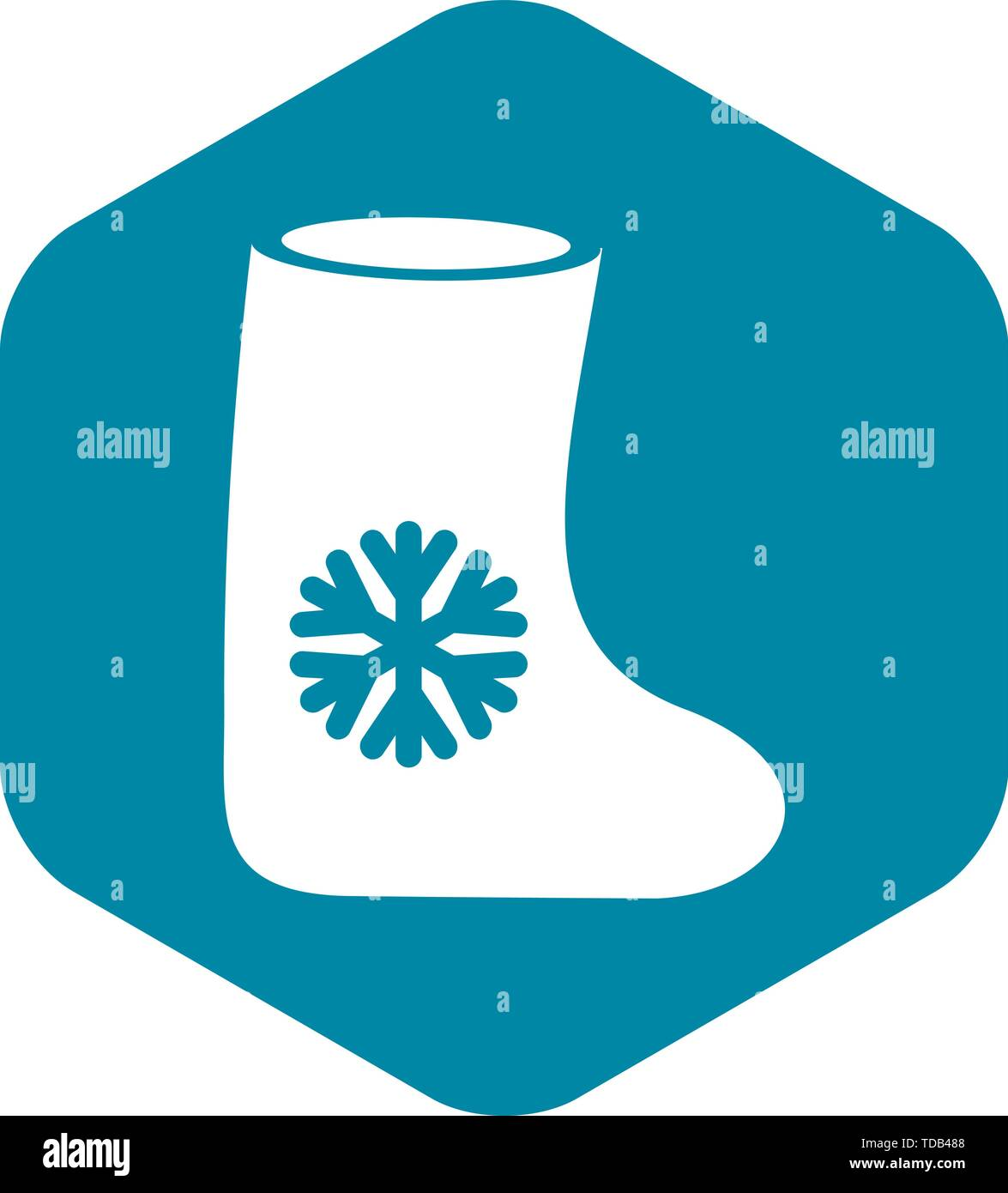 Felt boots icon, simple style - Stock Vector